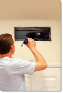 HVAC duct cleaning inspection