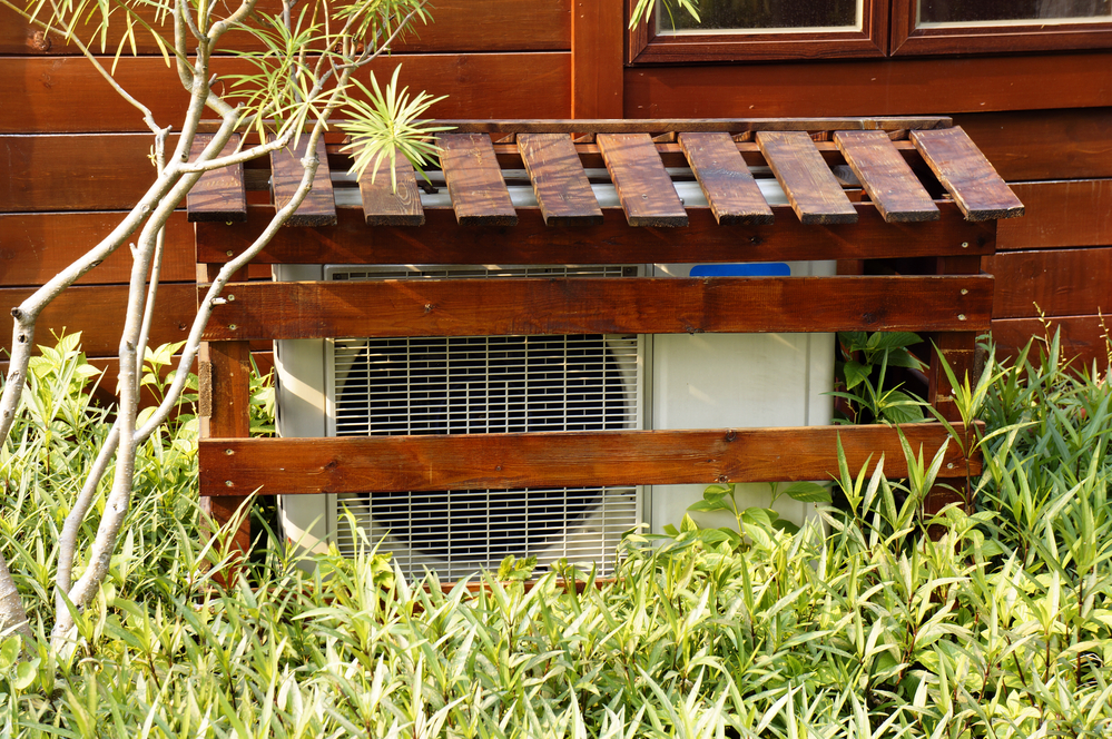 How to hide the air conditioner unit outside